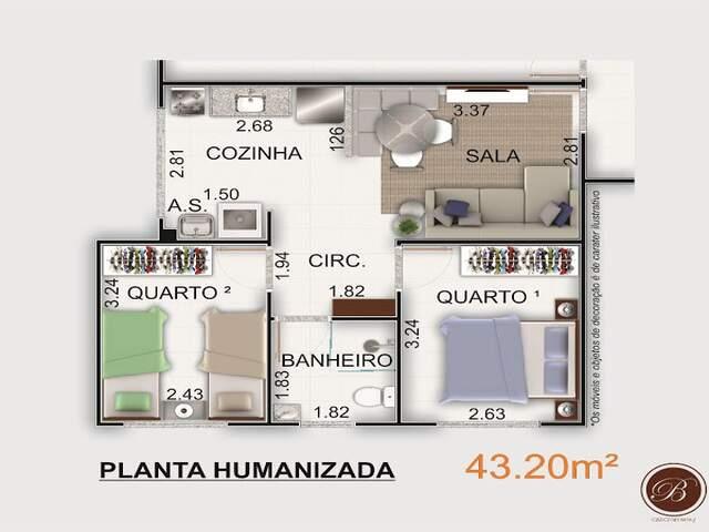 Apartamentos - 2 quartos - ITBI e registro grátis. Jardim Monte Alegre.