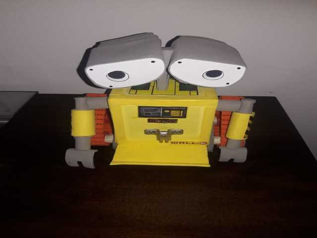 Suporte para celular Robô Wall-e e cofrinho para moedas
