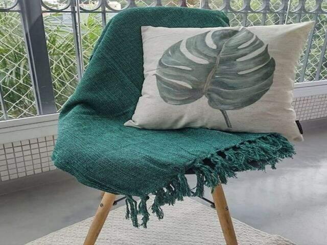 mantas de sofá 100% algodão