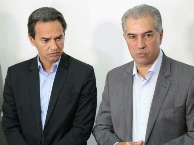 Marquinhos Trad e Reinaldo Azambuja após reunião na manhã desta quarta-feira. (Foto: Fernando Antunes)