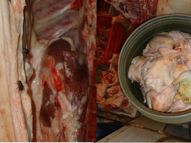 Ao todo foram apreendidos e destruídos, no aterro municipal, 4 mil quilos de carnes.