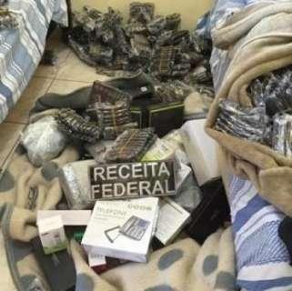 Receita Federal apreende em hotel R$ 1 milhão em produtos contrabandeados