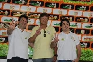 Valter na apresentação oficial do Jacaré do Conesul (Foto: Divulgação)
