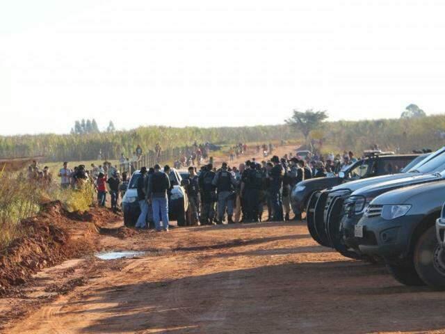 Fazenda onde ataque armado aconteceu (Foto: Helio de Freitas)