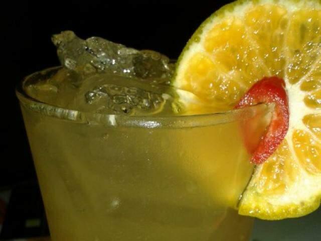 Caipirosca de tangerina.