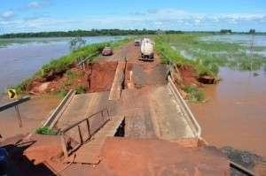 Governo vai investir R$ 6 mi para reconstruir pontes danificadas pelas chuva
