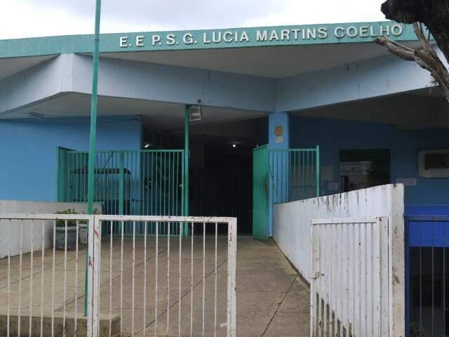 Escola Estadual Lúcia Martins Coelho, em Campo Grande. (Foto: Alcides Neto)
