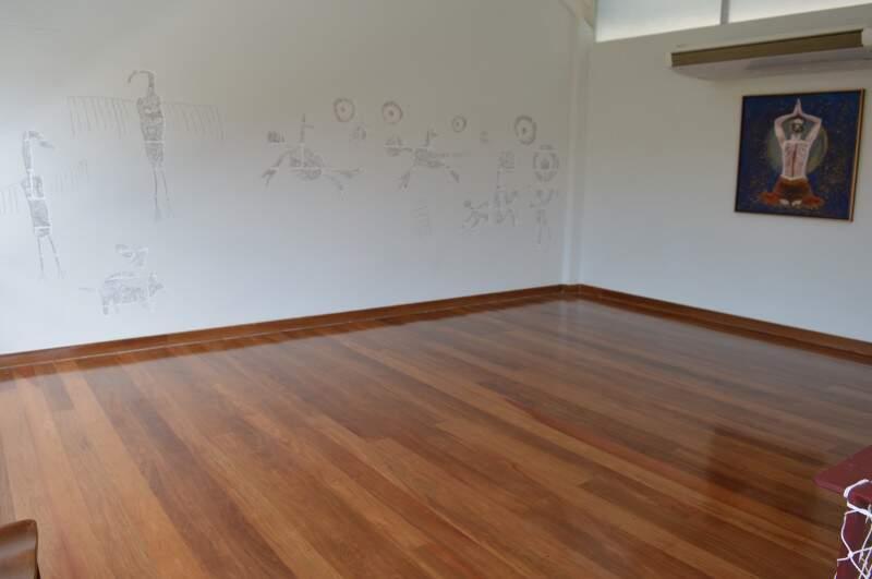 Espaço para dança e yoga no segundo pavimento. (Foto: Thailla Torres)