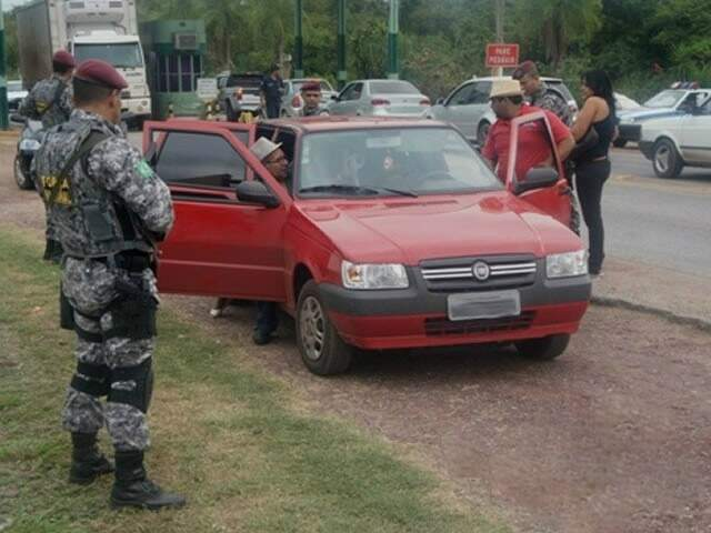 Força Nacional atua na região de fronteira. (Foto: Capital do Pantanal)