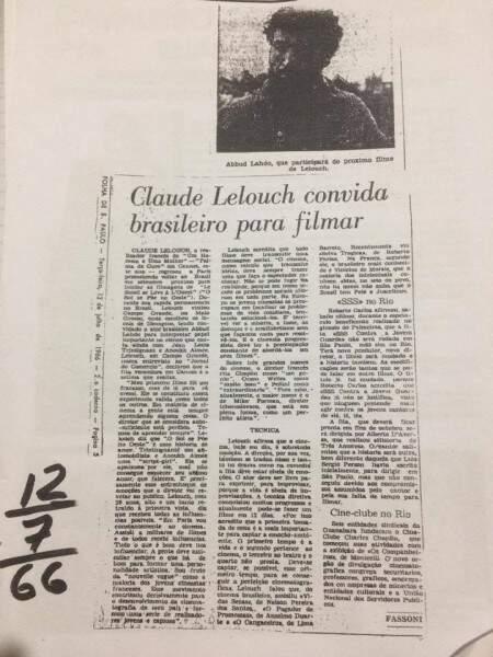Notícia sobre a participação de Abboud em filme independente  (Foto: Naiane Mesquita/Reprodução arquivo pessoal Abboud Lahdo)