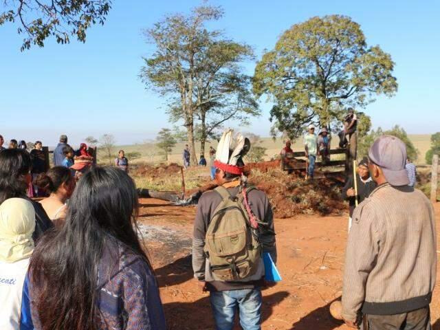 Área do conflito ocorrido em junho, em Caarapó (Foto: Helio de Freitas)