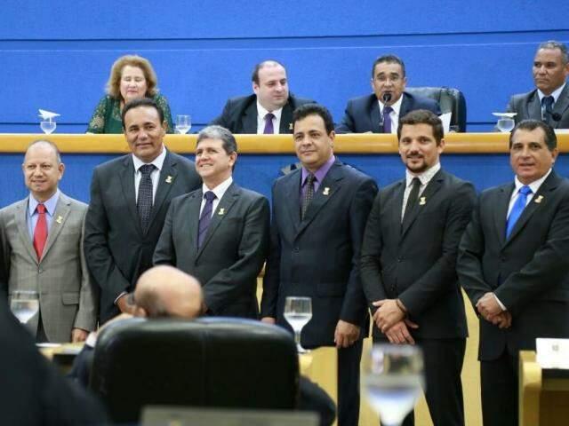 Escolhida mesa diretora para nova legislatura. (Foto: Marcos Ermínio)