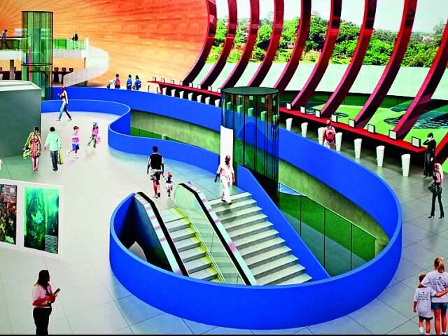 Entre os atrativos, prédio possuirá amplo saguão, auditório para 250 pessoas, restaurante e lanchonete.