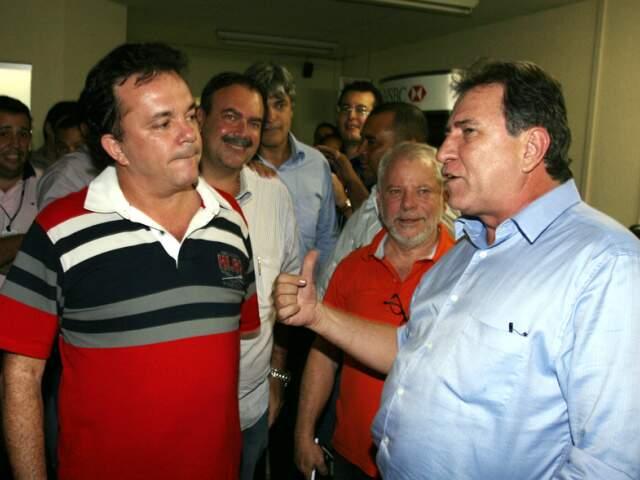Vander e Giroto se encontraram na Câmara. (Foto: Izaías Medeiros)