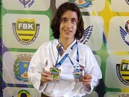 Atleta de Ribas do Rio Pardo conquista título Brasileiro de Karatê