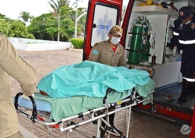 Vítima foi atingida no rosto e está internada na Santa Casa de Campo Grande (Foto: Alisson Silva / Edição de Notícias)