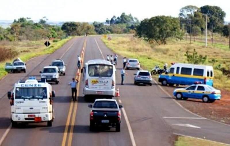 Fiscalização aumente em mais de 15 mil quilômetros de rodovias estaduais em MS (Foto: PMR/Divulgação)