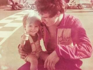 Seu Luiz com o filho Luizinho. (Foto: Arquivo Pessoal)