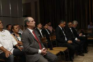 Ex-ministro participa de evento com donos de postos em Campo Grande (Foto: Cleber Gellio)