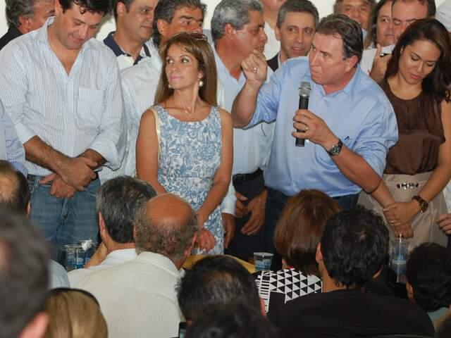 Pré-candidato prometeu consultar os líderes Trad e Puccinelli (Foto: Marlon Ganassin)