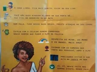 Panfleto criado por frequentadores do Bar da Tia (Foto: Direto das Ruas)