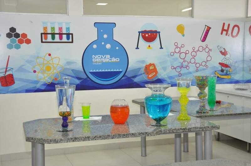 Laboratório do Colégio Nova Geração (Foto: Divulgação)