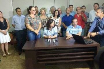 Délia Razuk anunciou os integrantes do 1° escalão do seu mandato (Foto: MS em Foco)