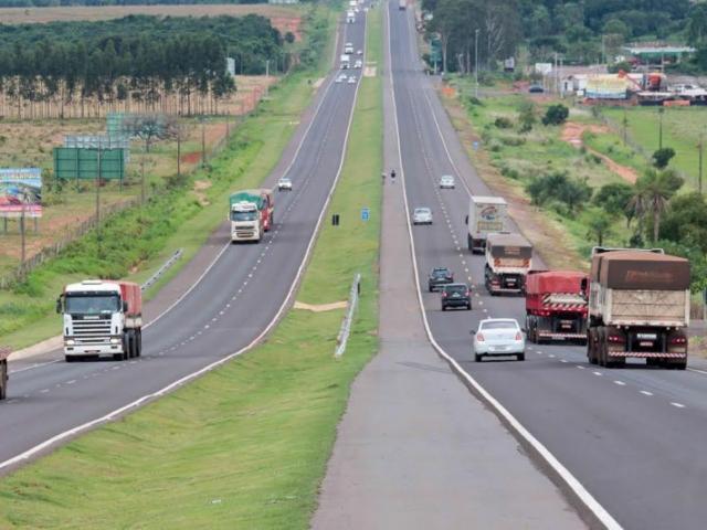 Concessionária espera pico de veículos na BR-163  (Foto: Divulgação/CCR MSVia)