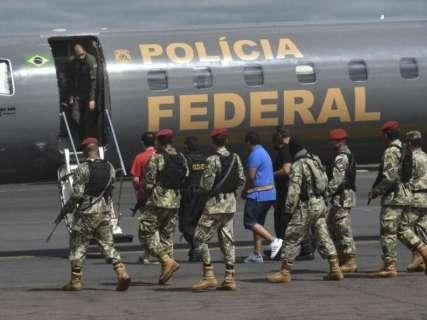 Preso na fronteira com MS, bandido é isolado em penitenciária federal