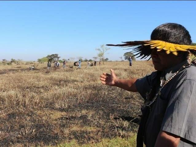 Área ocupada pelos índios é alvo de disputa com fazendeiros, o que já resultou em conflito armado (Foto: Helio de Freitas/Arquivo)