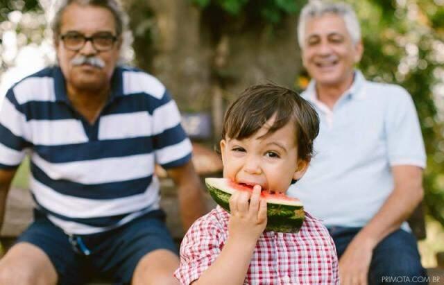No piquenique, comeu frutas à vontade. (Foto: Pri Mota)