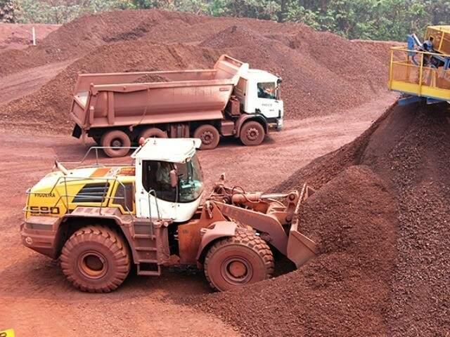 Produção de minério em Corumbá (Foto: Anderson Gallo/Diário Corumbaense)