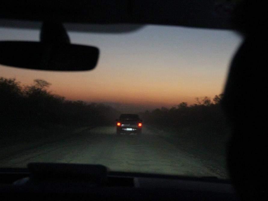 Trecho noturno e tenso da viagem (Foto: Silvio Andrade)