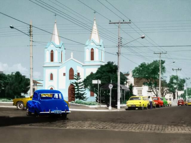 Antiga matriz de Santo Antônio, na Calógeras.