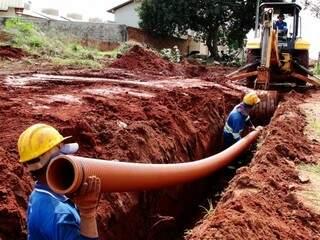 Redes de esgoto também foram modernizadas. (Foto:Divulgação)