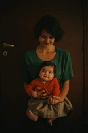 A filha Júlia, de 4 meses também participou. (Foto: Sarah Outeiro)