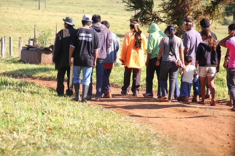 Uma das propriedades rurais retomadas pelos índios no dia 22 deste mês. (Foto: Marcos Ermínio)