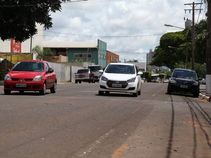 Rua Brilhante é uma das que será recapeada (Foto: Marcos Ermínio)