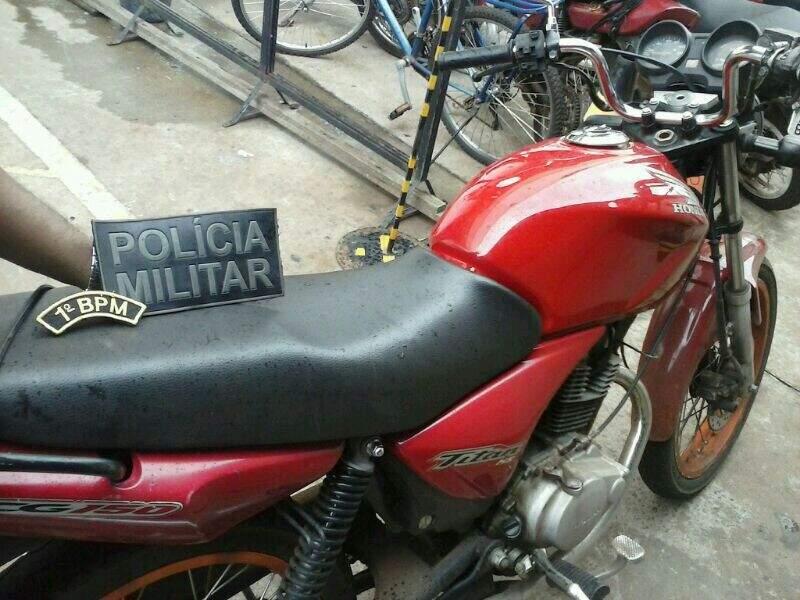 Moto foi furtada no camelódromo e recuperada na rodoviária antiga (Foto: Divulgação)