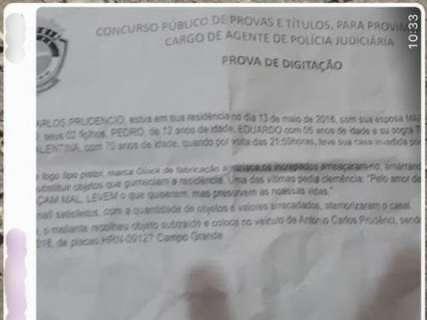 Comissão exclui prova de digitação do concurso da Polícia Civil de MS