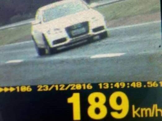 A velocidade máxima permitida onde o veículo foi flagrado é de 100 km/hora. (Foto: Divulgação PRF/EdiçãoMS)