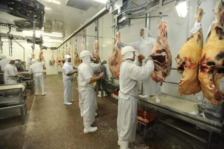 Livre de aftosa com vacinação, carne in natura de MS pode ser exportada para os EUA. (Foto: Claudio Vaz/Divulgação)