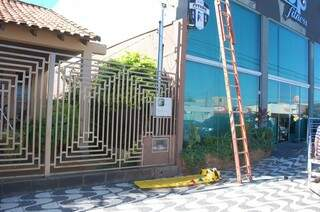 Acidente de trabalho foi em academia do Jardim TV Morena. (Foto: Pedro Peralta)