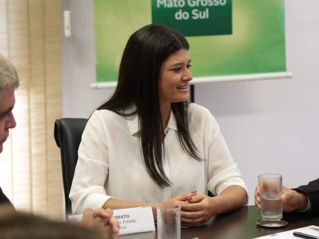 Rose Modesto (PSDB), governadora do Estado em exercício. (Foto: Fernando Antunes)