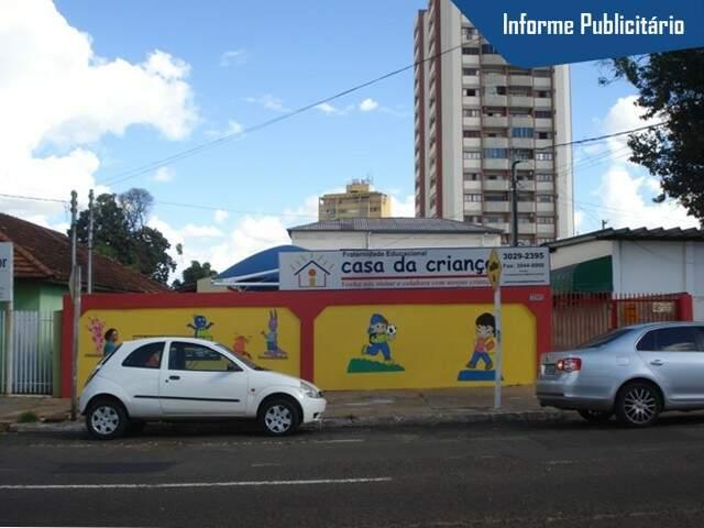 Fachada da Escola Casa da Criança na Rua Dom Aquino - Foto Divulgação