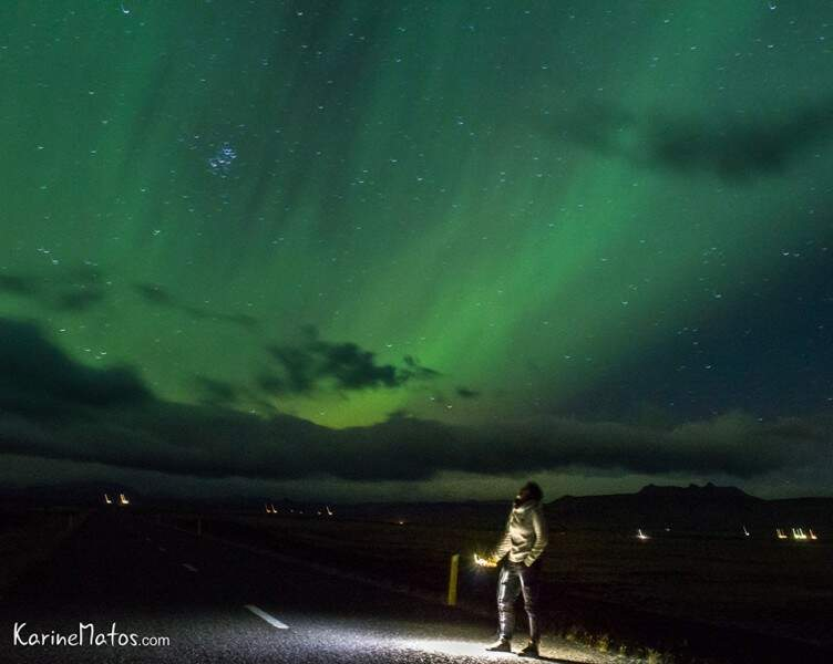 Aurora Boreal, Islândia. (Foto: Karine Matos)