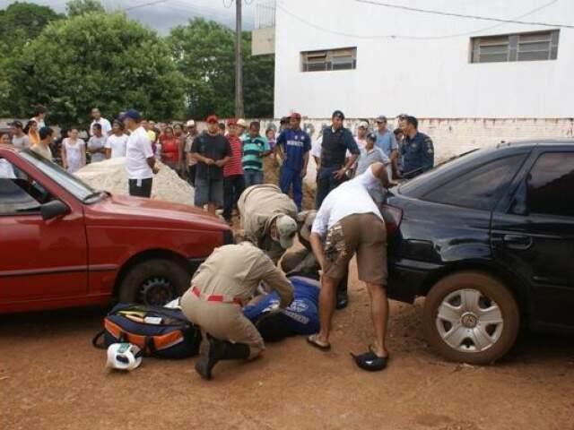 Luciano Luiz dos Santos, de 24 anos, foi morto a tiros ontem à tarde. (Foto: Vicentina Online)