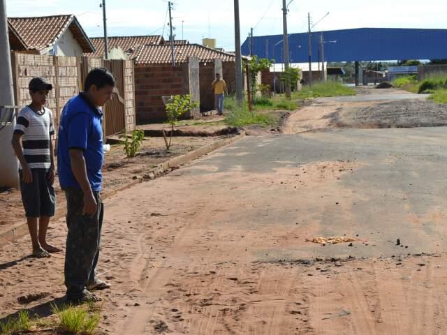 Rua onde menina foi morta, durante perseguição policial a motociclista. (Foto: Fernando da Mata)