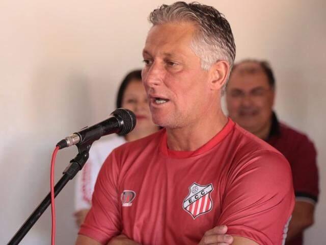 Márcio Bittencourt, apresentado no último sábado como treinador do Comercial de Campo Grande para a temporada de 2017 (Foto; Fernando Antunes)