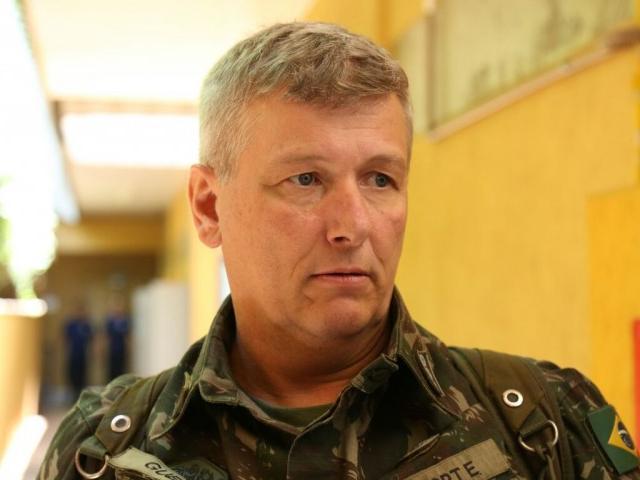 Coronel Marcelo Guedon, do Exército, estima início de obras em fevereiro. (Foto: Marcos Ermínio).